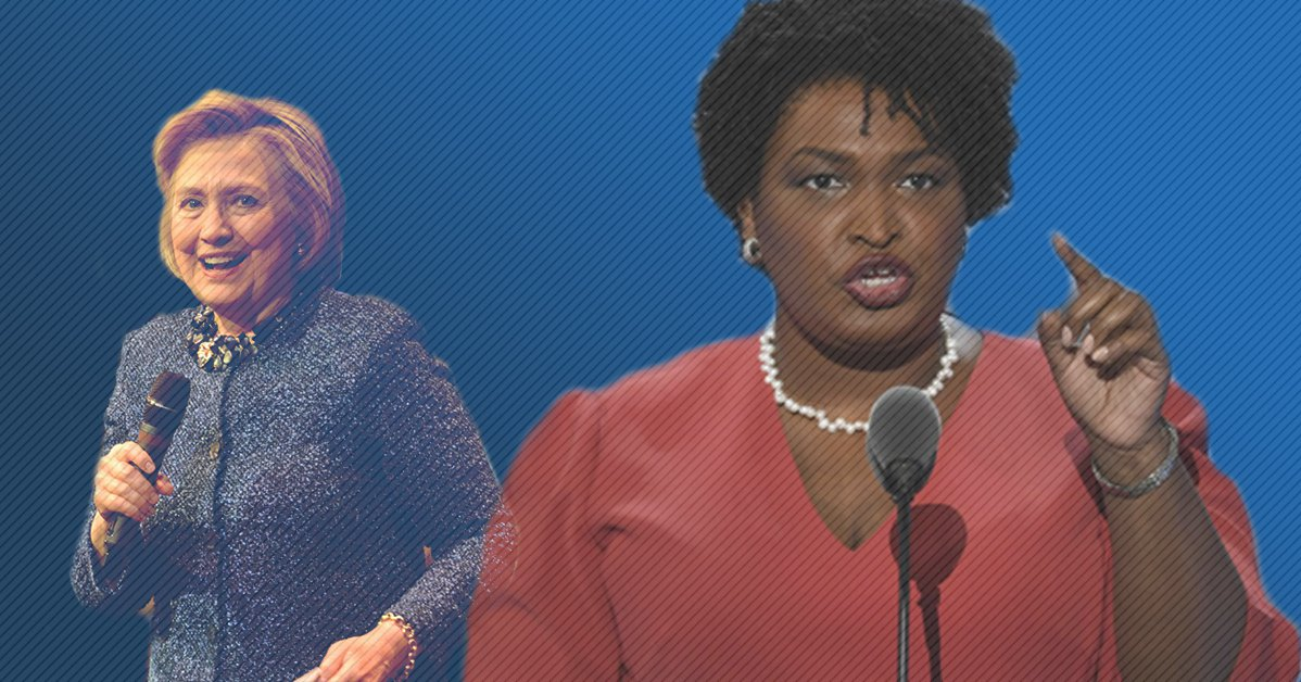 Stacey Abrams Hillary Clinton