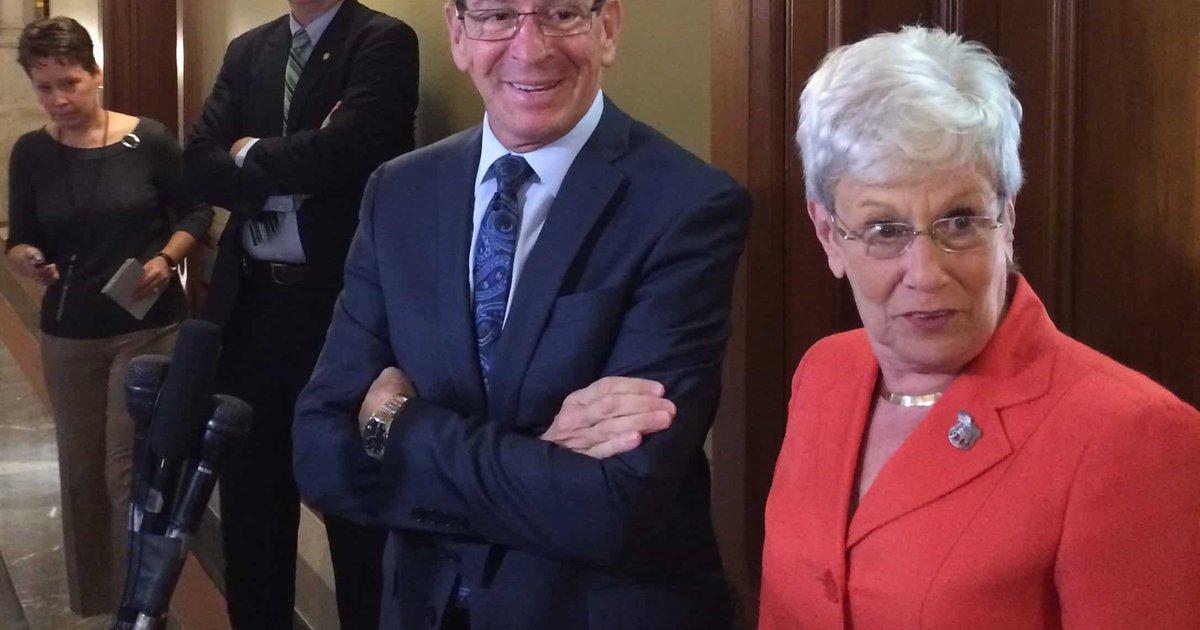Nancy Wyman and Dan Malloy