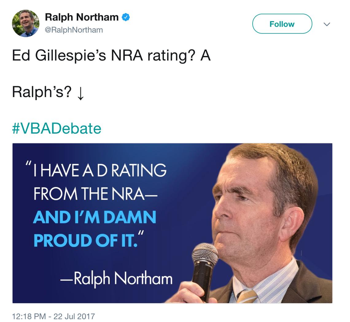 Ralph Northam tweet