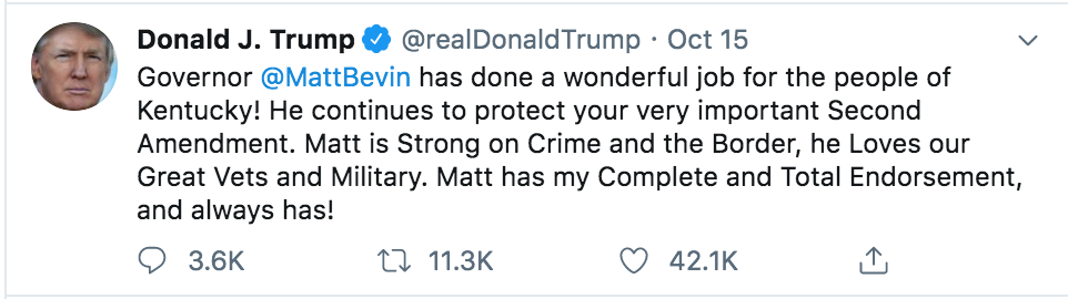 trump bevin tweet