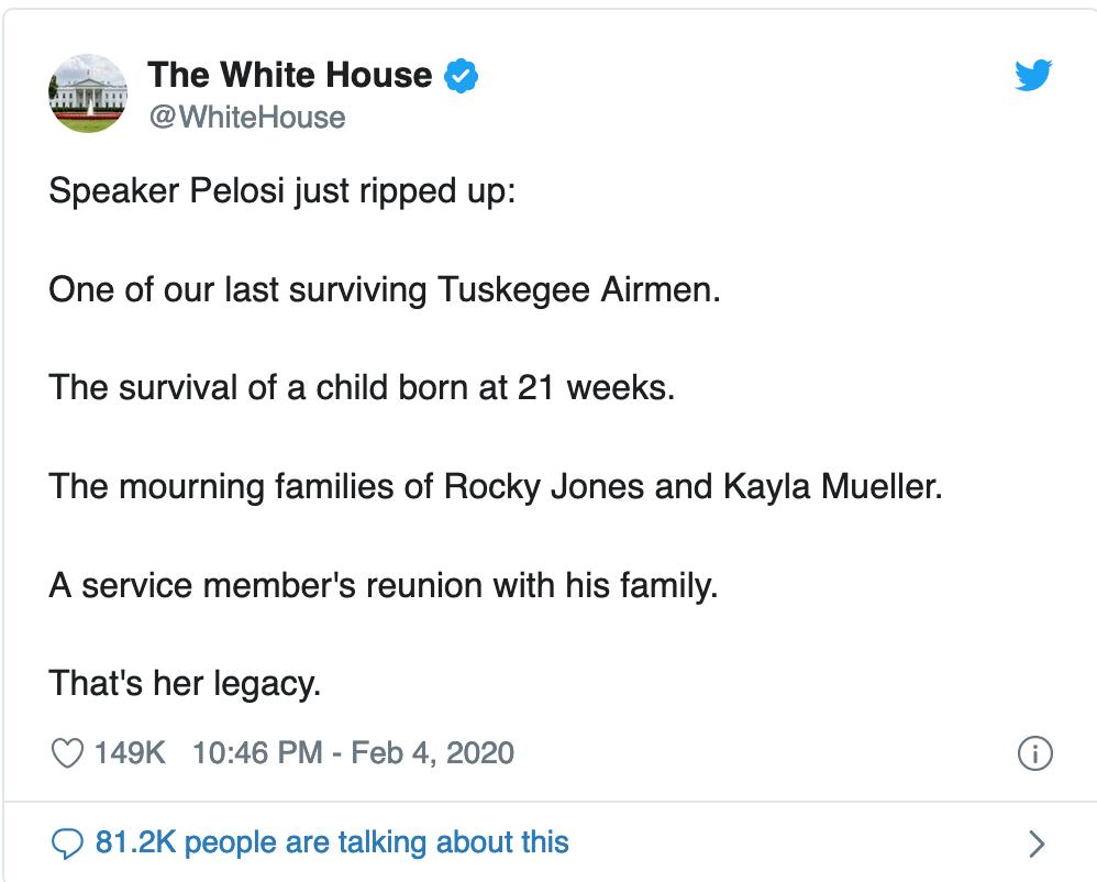 white house twet