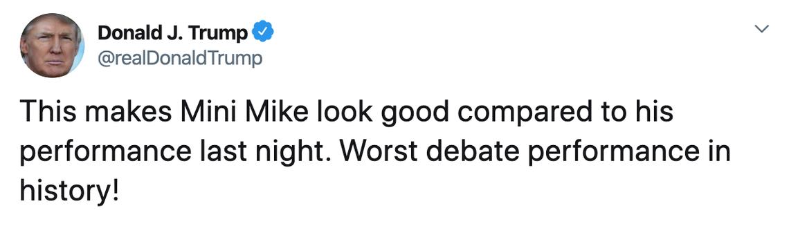 trump bloomberg tweet